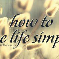 live life simply